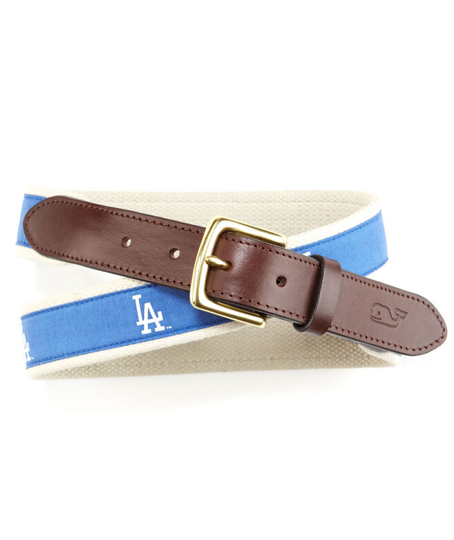 Los Angeles Dodgers Canvas Club Belt
