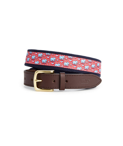 Political Elephant Canvas Club Belt