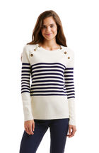 Merino Button Neck Sweater