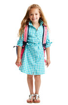 Girls Gingham Shirt Dress