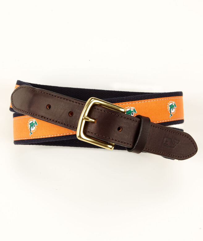 Miami Dolphins Canvas Club Belt
