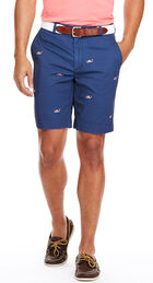 9 Inch Flag Whale Embroidered Breaker Shorts