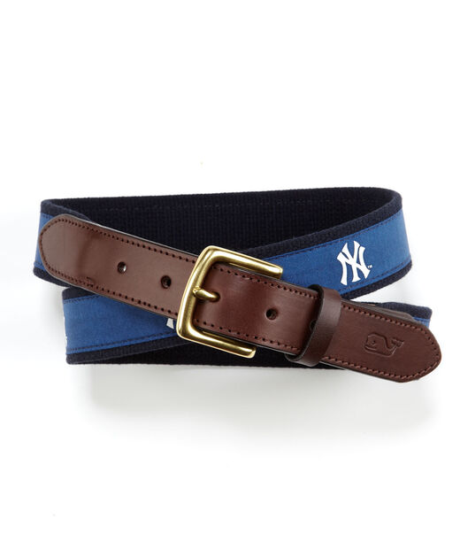 Mlb Collection New York Yankees Canvas Club Belt For Men