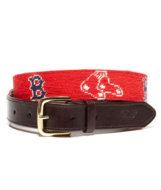 Boston Red Sox Needlepoint Belt