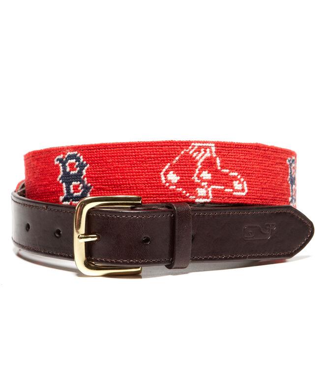 Boston Red Sox Needlepoint Belt
