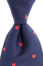 Hearts Woven Tie