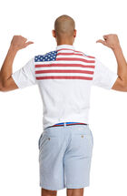 Classic-Fit American Flag Shep Polo