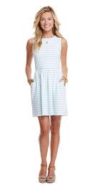 Stripe Fit N Flare Knit Dress