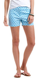 Whale Tail Print Shorts