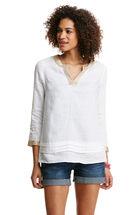 Pleated Linen Tunic