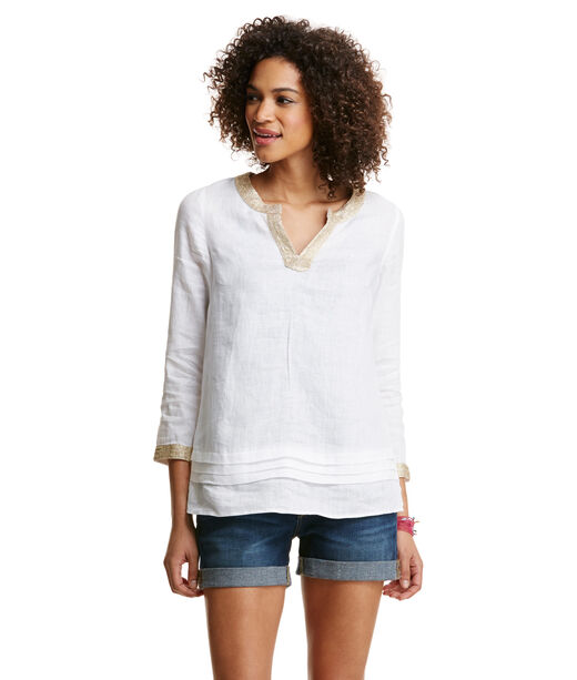 Pleated Linen Tunic