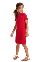 Girls Flag Undercollar Polo Dress