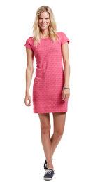 Whale Tail Print Tee Dress