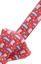 USA Flags Bow Tie