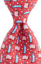 Boys USA Flags Printed Tie