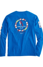 Long-Sleeve Ring Of Flags Pocket T-Shirt