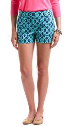 Lattice Print Shorts