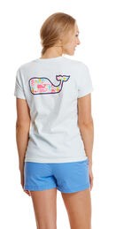 Short-Sleeve Puzzle Whale Fill Pocket Tee