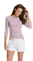 Boat Neck 3/4 Sleeve Top