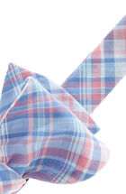 George Hill Plaid Woven Bow Tie
