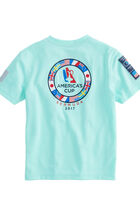 Boys Performance Ring Of Flags T-Shirt