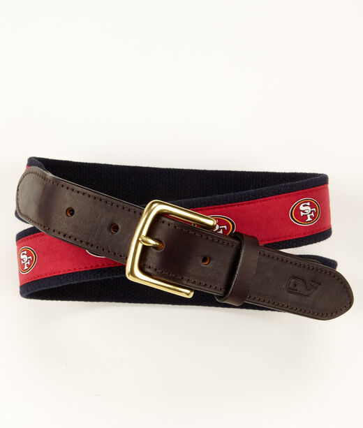 San Francisco 49ers Canvas Club Belt