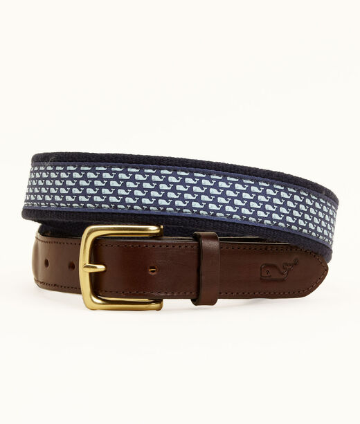 Vineyard Whale Canvas Club Belt