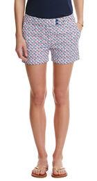 Flag Whale Print Shorts