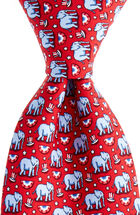 Elephants Printed Tie