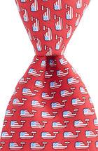 Flag Whale Tie