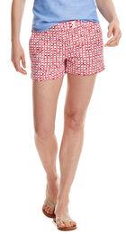 Tie Dye Squares Print Shorts