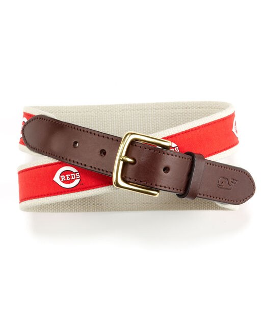 Cincinnati Reds Canvas Club Belt