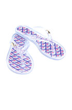 Girls Whale Tail Fish Scale Jelly Flip Flops