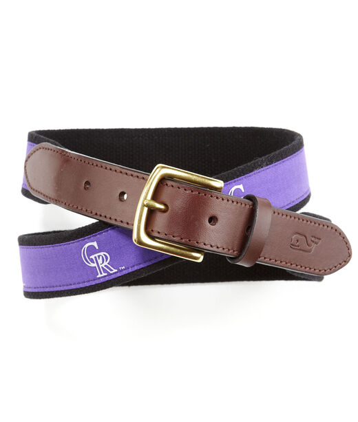 Colorado Rockies Canvas Club Belt