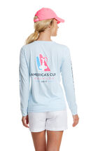 Long-Sleeve Performance America's Cup Logo Tee