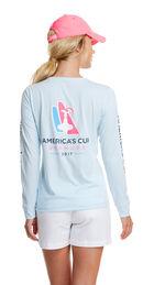 Long-Sleeve Performance America's Cup Logo Tee