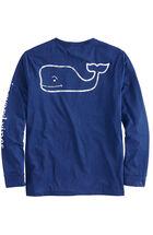 Long-Sleeve Vintage Whale Performance Heather T-Shirt
