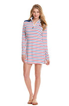 Stripe Shep Shirt Cover-Up