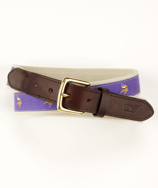 Minnesota Vikings Canvas Club Belt