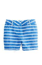 Girls Cotton Linen Stripe Shorts