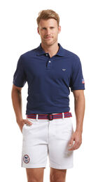 Slim Fit Flag Patch Polo