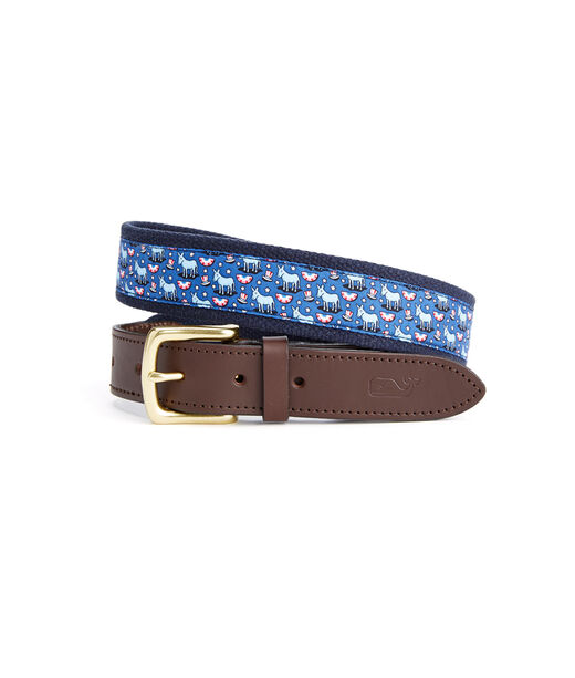 Political Donkey Canvas Club Belt