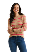 Stripe Cashmere Coral Lane Sweater