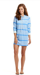 Long-Sleeve Whale Hoodie Stripe Cover-Up