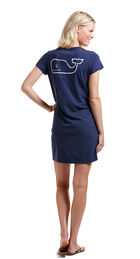 Short-Sleeve Vintage Whale Pocket Tee Dress
