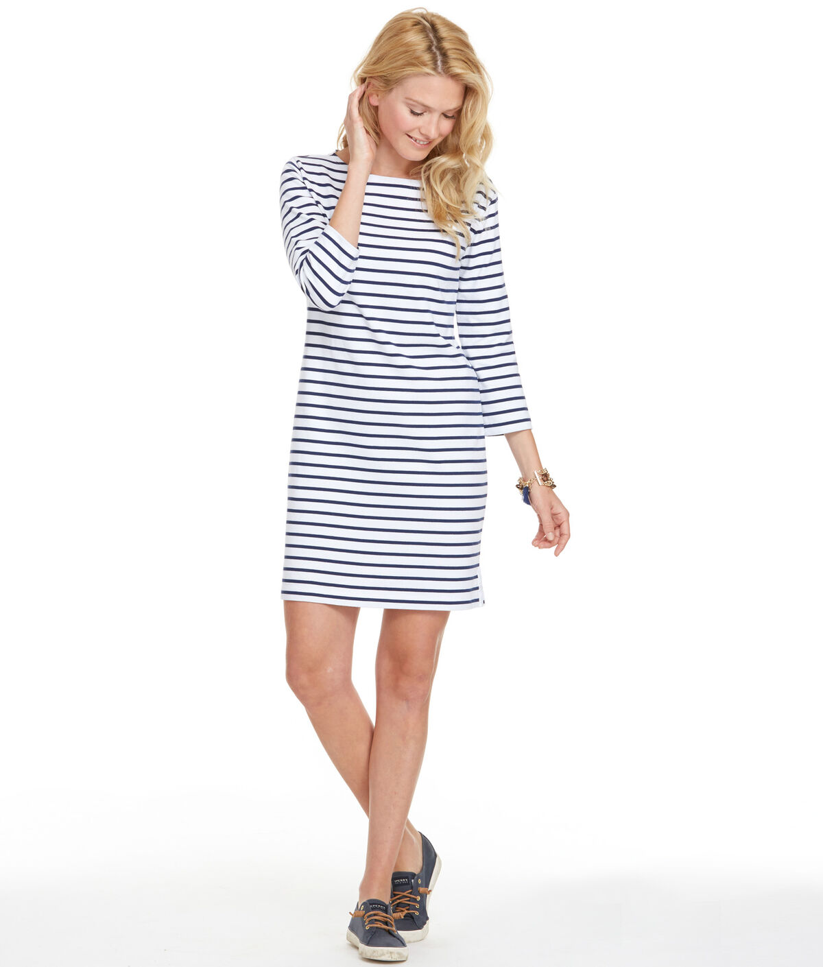 Cotton Striped Knit Dress