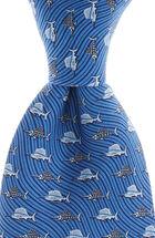 Boys Sailfish & Bones Printed Tie