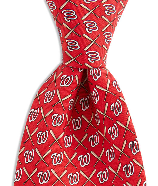 Washington Nationals Logo & Bat Tie