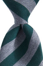 Heathered Rep Stripe Woven Tie