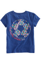 Girls Short-Sleeve Soccer Ball Tee